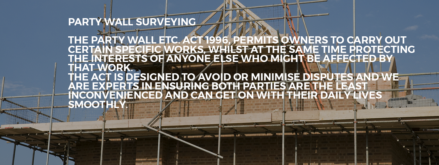 Our services for Party wall agreed surveyor
